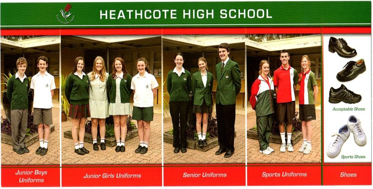 Examples of our school uniform.